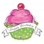 Anagram 29 x 27 inch Birthday Sweets Cupcake