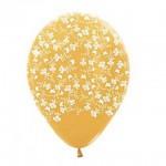 """Sempertex 12"""" Inch AO Butterflies & Flower Gold ~ 10pcs"""