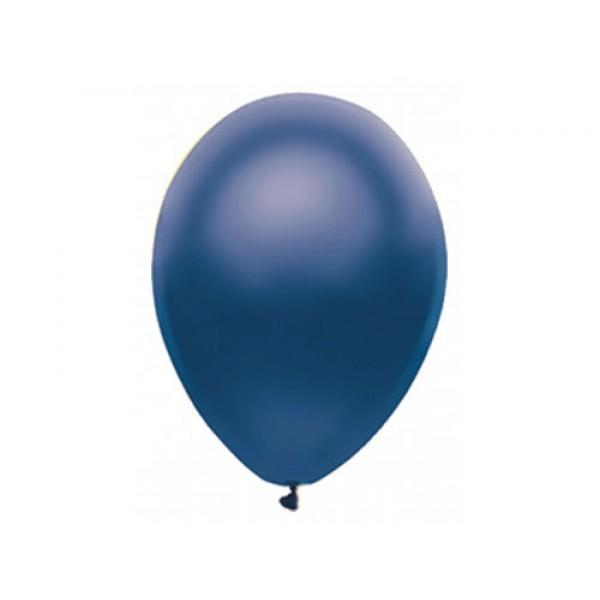 5 Inch Round Balloons - Mytex 5 Inch Metallic Navy BlueRound Balloon ~ 100pcs