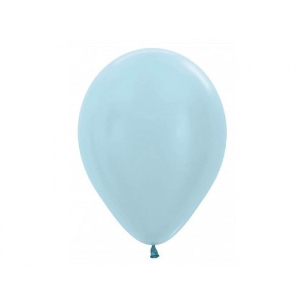 "Sempertex 12"" Inch Pearl Light Blue Round Balloon 440 ~ 100pcs"
