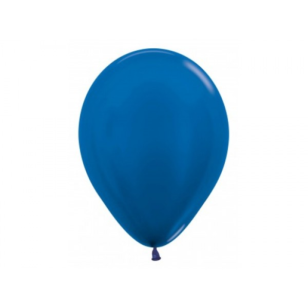 "Sempertex 12"" Inch Metallic Blue Round Balloon 540 ~ 100pcs"