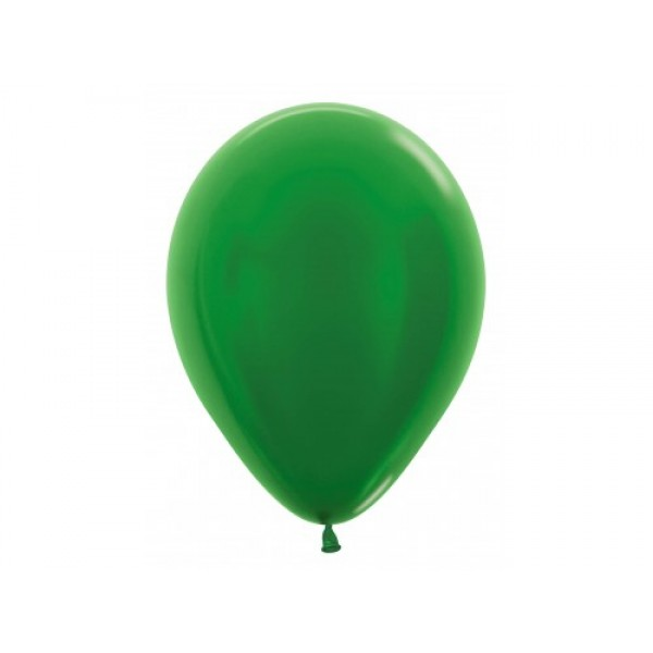 "Sempertex 12"" Inch Metallic Green Round Balloon 530 ~ 100pcs"