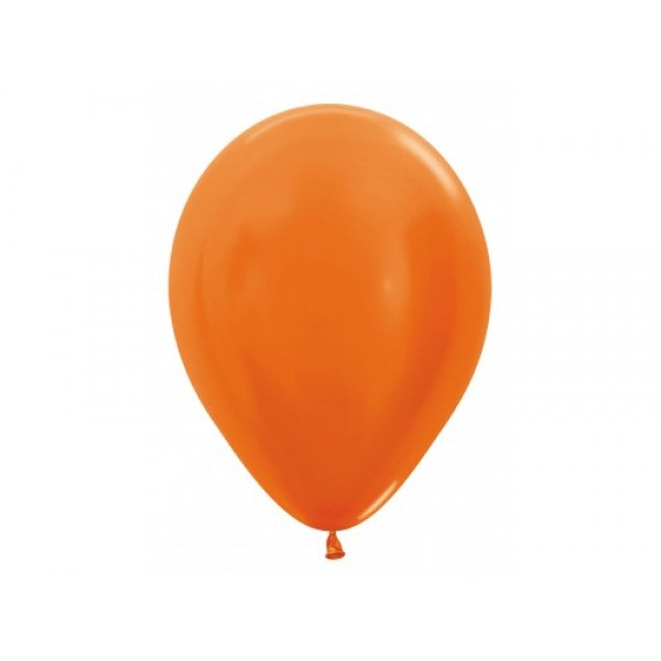 "Sempertex 12"" Inch Metallic Orange Round Balloon 561~ 100pcs"