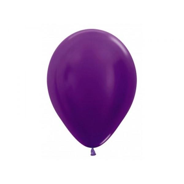 """Sempertex 12"""" Inch Metallic Violet Round Balloon 551 ~ 100pcs"""