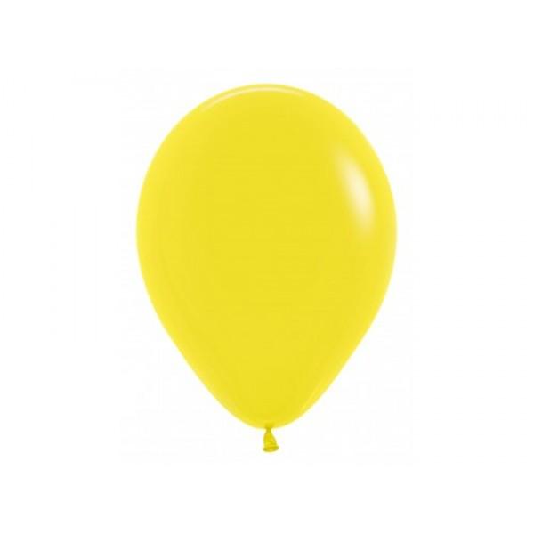 """Sempertex 12"""" Inch Standard Yellow Round Balloon 020 ~ 100pcs"""