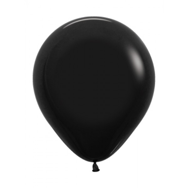 18 Inch Round Balloons - 18 Inch Solid Black Color Round Balloon