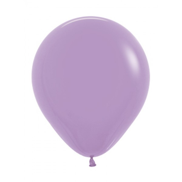 18 Inch Round Balloons - 18 Inch Solid Lilac Color Round Balloon