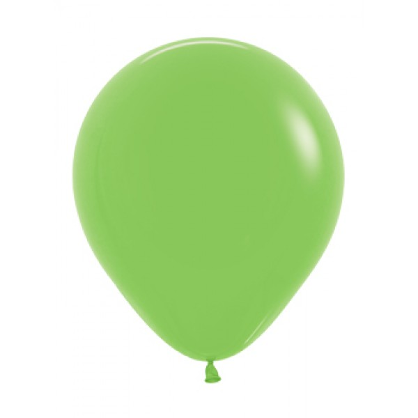 18 Inch Round Balloons - 18 Inch Solid Lime Green Color Round Balloon
