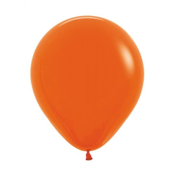 18 Inch Round Balloons - 18 Inch Solid Orange Color Round Balloon