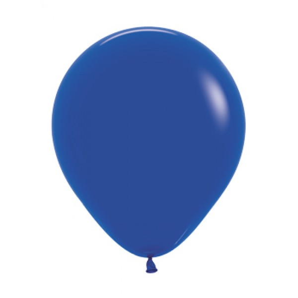 18 Inch Round Balloons - 18 Inch Solid Royal Blue Color Round Balloon