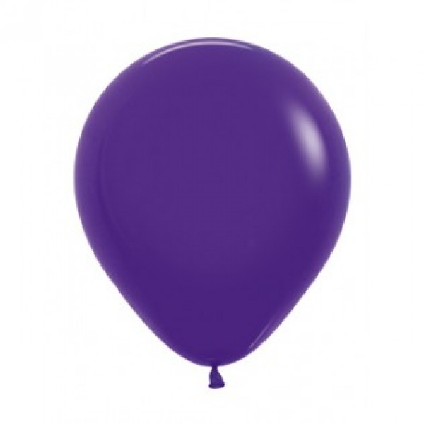 18 Inch Round Balloons - 18 Inch Solid Violet Color Round Balloon