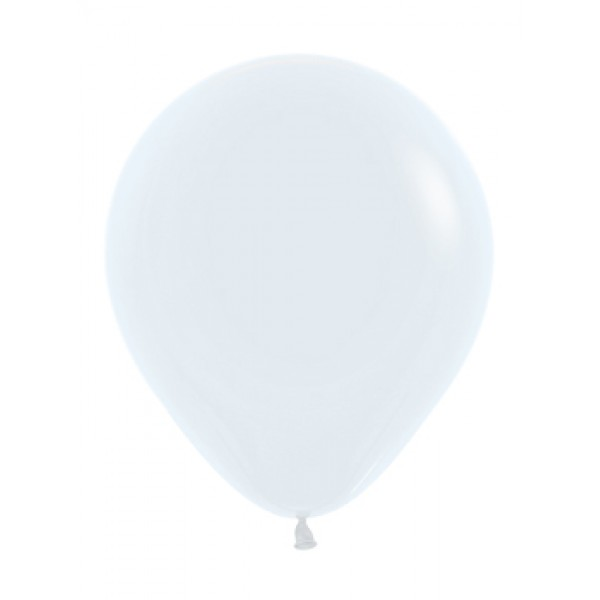 18 Inch Round Balloons - 18 Inch Solid White Color Round Balloon