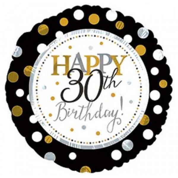 CTI 17 Inch Happy 30th Birthday