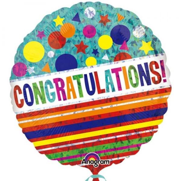 Congratulations - Anagram 18 inch Congratulations Sparkle