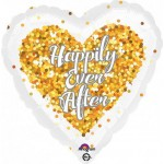 Anagram 17 inch Confetti Happily Ever After Wedding Heart
