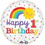 Anagram 17 inch 1st Birthday Rainbow