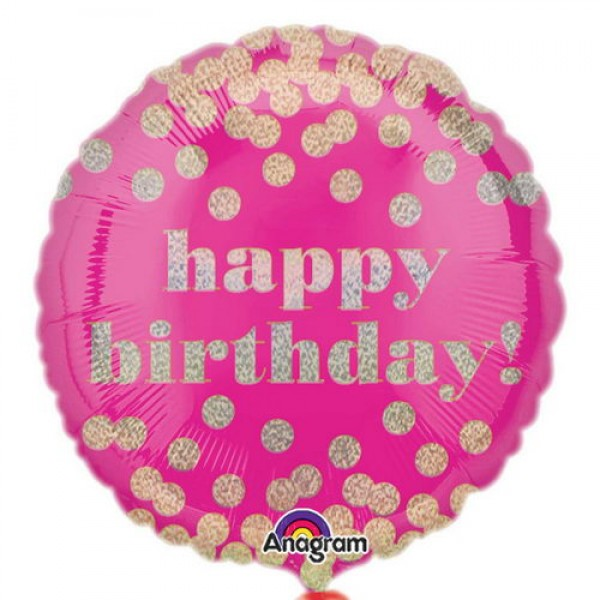Birthday Balloons - Anagram 18 inch HBD Dotty