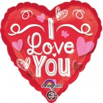 Anagram 17 inch I Love You Scribble Hearts