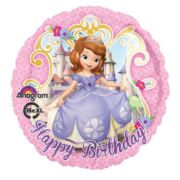 Character Balloons - Anagram 17 inch Sofia the First Birthday