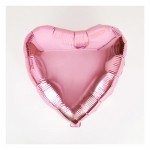 "Mytex 18"" Inch Heart Shape Plain Pink Foil Balloon ~ 5 pcs"