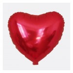 Mytex 18 Inch Heart Shape Plain Red Foil Balloon ~ 5 pcs