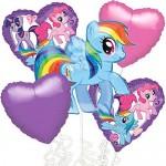 My Little Pony Balloon Bouquet 5pc
