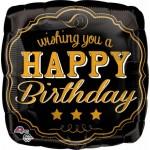Anagram 17 inch Vintage Happy Birthday