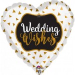 Anagram 17 inch Wedding Wishes Gold