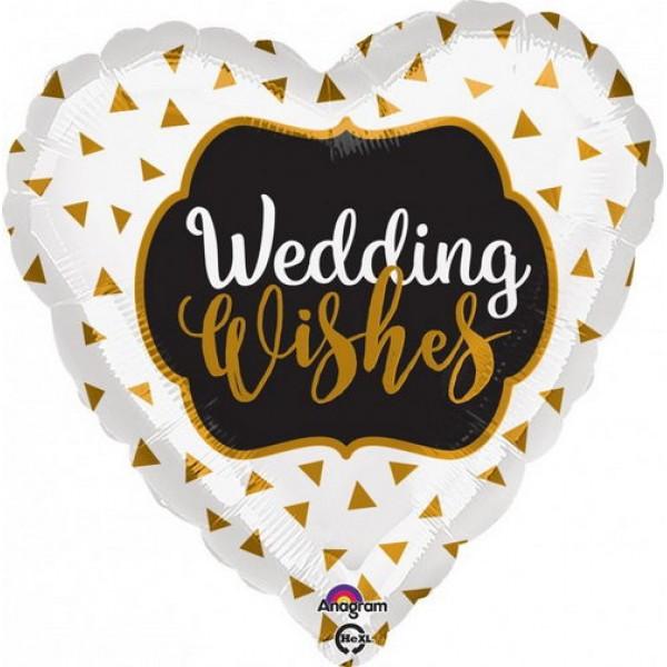 Wedding - Anagram 17 inch Wedding Wishes Gold