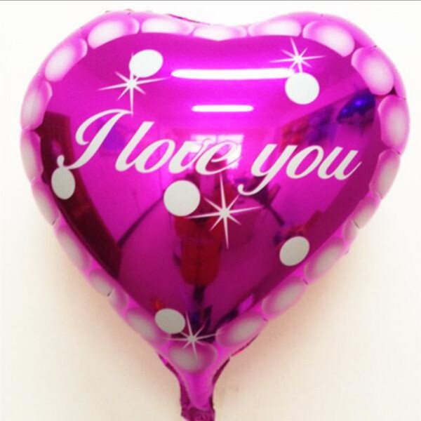 High Quality 17 Inch I Love You Heart Shape Pink Balloon