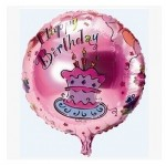 "Mytex 17"" Inch Happy Birthday Cupcake Pink Balloon"