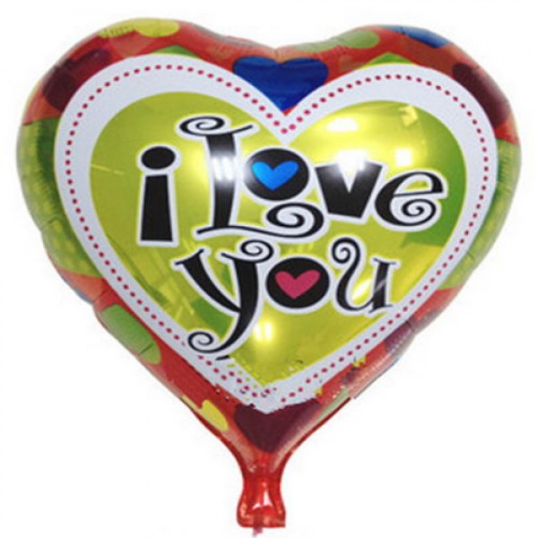 Mytex 18 Inch I Love You Heart Shape Colorful Hearts Balloon