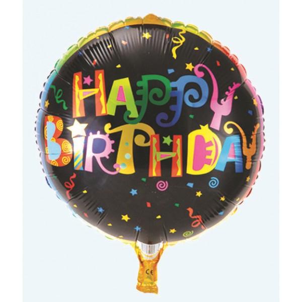 Mytex 18 Inch Happy Birthday Colorful Wordings Balloon