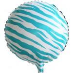 "Mytex 17"" Inch Zebra Stripe Blue Foil Balloon"