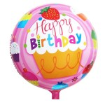 "Mytex 18"" Inch Happy Birthday Cupcake Pink Balloon"