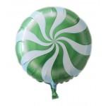 "Mytex 17"" Inch Lollipops Green Candy Swirl Party Balloon"