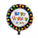 "Mytex 17"" Inch Happy Birthday To You Candles Edge Balloon"