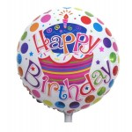 "Mytex 18"" Inch Happy Birthday Polka Dots Capcake Balloon"