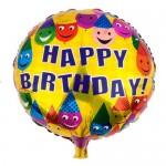 "Mytex 17"" Inch Happy Birthday Smiley Partyface Balloon"