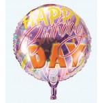 "Mytex 18"" Inch Happy Birthday Purple Background Balloon"