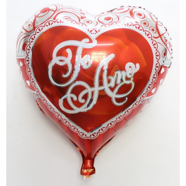 Mytex 18 Inch Te Amo Heart Shape Red Balloon
