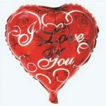 "Mytex 18"" Inch I Love You Heart Shape Roses Balloon"