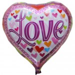 "Mytex 18"" Inch Love Heart Shape Colorful Hearts Balloon"