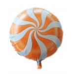Mytex 17 Inch Lollipops Orange Candy Swirl Party Balloon