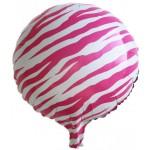 "Mytex 17"" Inch Zebra Stripe Pink Foil Balloon"