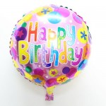 "Mytex 17"" Inch Happy Birthday Colorful Words Polka Balloon"