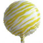 "Mytex 17"" Inch Zebra Stripe Yellow Foil Balloon"