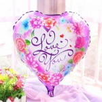 Mytex 18 Inch Rose Love You Heart Shape Balloon