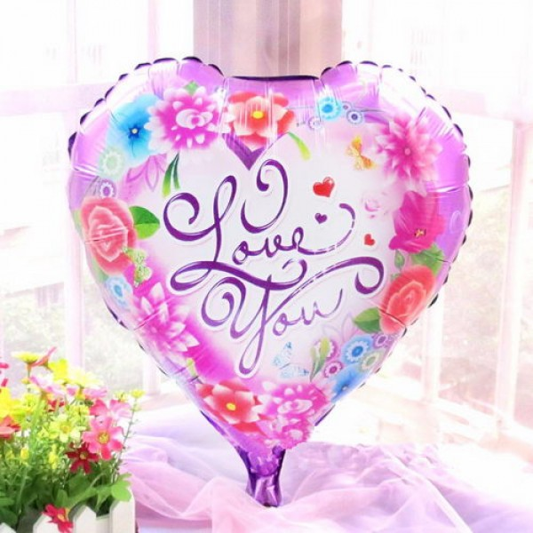 Love & Affection - Mytex 18 Inch Rose Love You Heart Shape Balloon