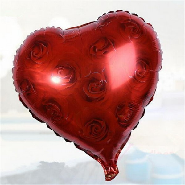 Love & Affection - Mytex 18 Inch Red Rose Background Love Heart Shape
